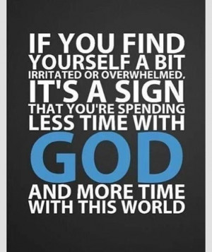 My top priority is to spend more time in God's word. (My second is ...