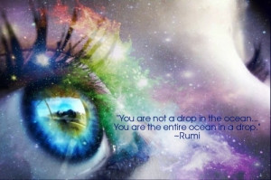 ... are not a drop in the ocean you are the entire ocean in a drop rumi
