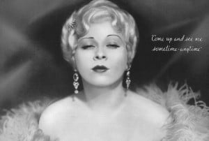 More Mae West at Greenbriar Archives ... Parts One and Two of Mae West ...