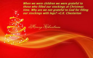 we were grateful to those who filled our stockings at Christmas ...