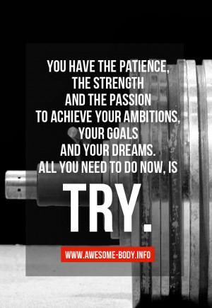 Just Try | bodybuilding motivation | Quotes