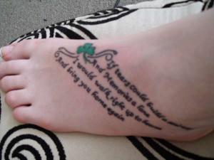 Memorial Foot Tattoo Quotes