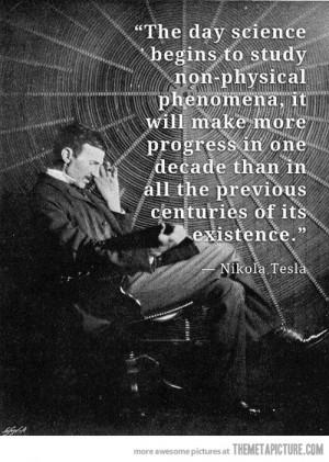 Funny photos funny Nikola Tesla quote