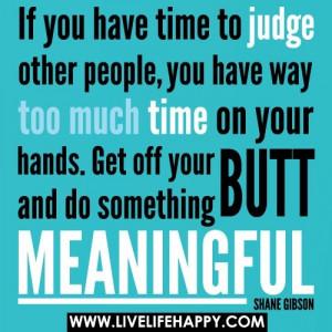 judging people