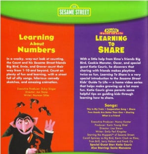 123 sesame street learning about numbers learning to share