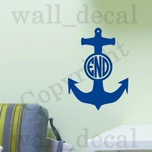 ... -Boat-Anchor-Personalized-Wall-Decal-Vinyl-Sticker-Quote-Initials