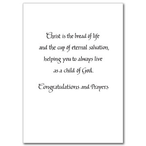 First Holy Communion Verses