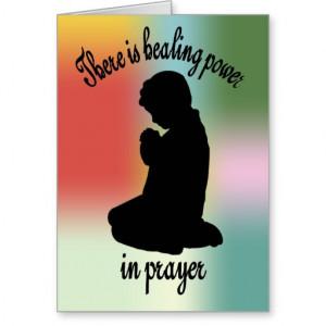 Healing Power of Prayer Card