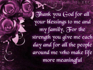 Myspace Graphics > God Quotes > thank you god for all your blessings ...