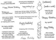 birthday sentiments more stamps birthday birthday card card birthday ...