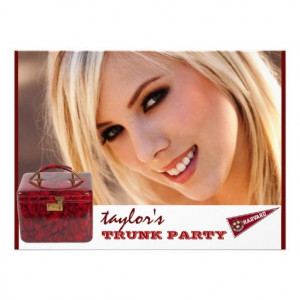 personalized photo trunk party invitationBritney Beth, Pretty Face ...