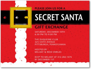 Here is a classic Secret Santa invitation to get your guests ready and ...
