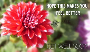 Hope this will make you feel better ~ Get Well Soon Quote