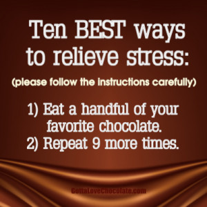 Chocolate and Stress Quote
