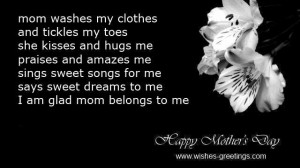 preschoolers poems for mothers day
