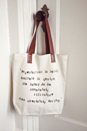 Tote of the Week: Hand-Stamped Quote Bag via A Beautiful Mess ...