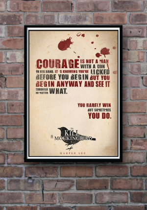 Quote Poster To Kill a Mockingbird Typographic Print by Redpostbox, £ ...