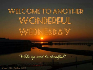 Welcome to Another Wonderful WEDNESDAY ...