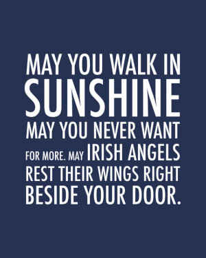 Inspirational Quote Irish Blessing Irish Angels Blessing - May You ...