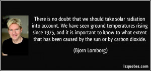 There is no doubt that we should take solar radiation into account. We ...