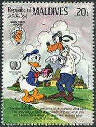 Maldives 1985. Realism/Naturalism. Literature. Mark Twain. Stamp #4 in ...