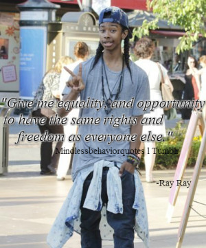 click here for more quotes from the boys of Mindless Behavior.