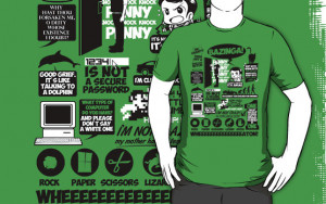 "The Sheldon Cooper quotes tee includes such memorable musings as, ""I ..."