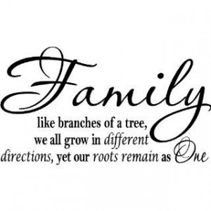 Family Like Branches Of A Tree We All Grow In Different Directions Yet ...