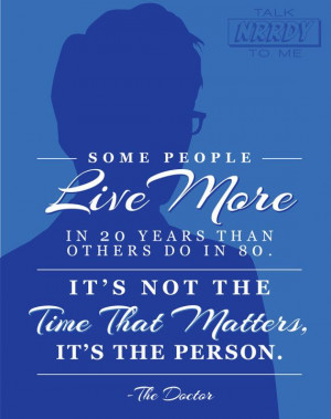 Tenth Doctor Quote 1 by TalkNrrdyToMe on Etsy LOTS more Doctor Who and ...