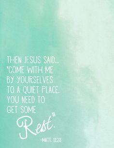 Rest. free printable verses, free printable scripture art, printabl ...