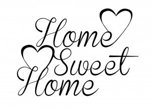 Home Sweet Home Quotes Home sweet home wall sticker