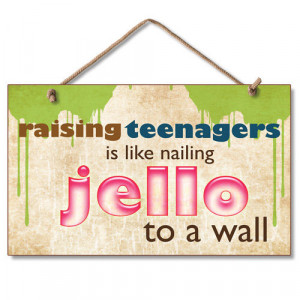 New Funny Sign Bill Cosby Quote Raising Teenagers Jello Humor Wall Art ...