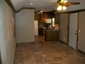 Travertine Floors Remote Ceiling Fan And Can Lights