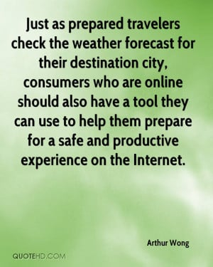 Just as prepared travelers check the weather forecast for their ...