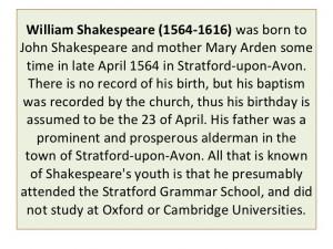 William shakespeare (1564 1616)
