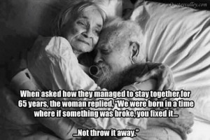 When Asked How They Managed To Stay Together For 65 Years