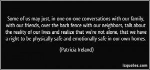 More Patricia Ireland Quotes