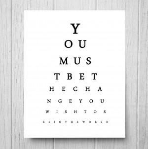 World Peace Quotes Gandhi Eyechart typography gandhi