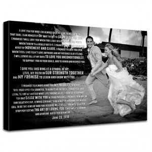 Gift Wedding Photo and Words printed on Canvas Custom Quotes, sayings ...