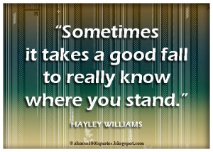 Stand Up For Yourself Quotes How fast you stand up again