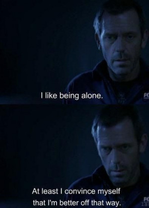 like being alone