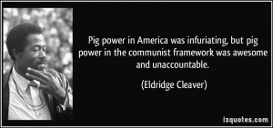 ... communist framework was awesome and unaccountable. - Eldridge Cleaver