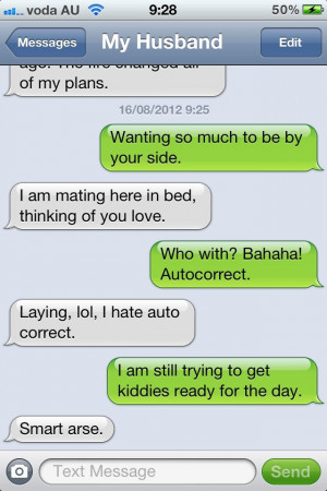 funny auto-correct texts - Thinking of You