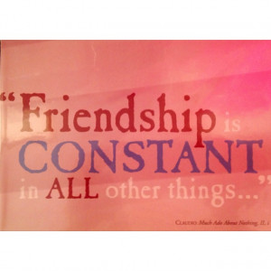 Friendship Shakespeare