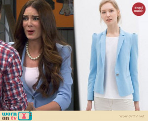 ... Blazer With Strong Shoulders Worn By Mallory Jansen On Young picture