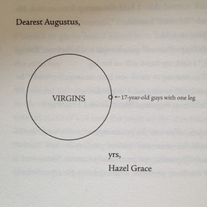 Oh, I wouldn't mind, Hazel Grace. It would be a privilege to have my ...