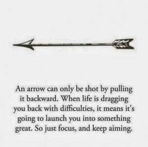 pulling it backward. When life is dragging you back with difficulties ...
