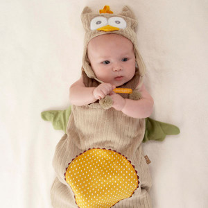 Owl Infant Baby Bunting Set