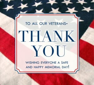 To Our Veterans Thank You