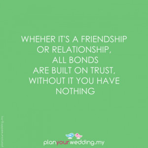 relationship bond built on trust quote picture quotes sayings pics jpg